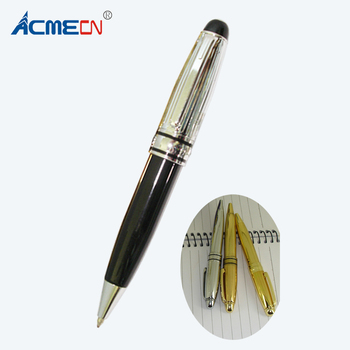 ACMECN Cute Design Short Classic Brass Gold pen Pocket size Mini MB style  Ballpoint Pens