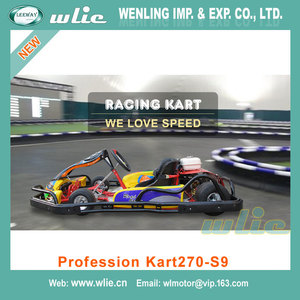 New Design Professional go karting kart with bumper 4 wheel drive 9 HP racing (Profession 270-S9)