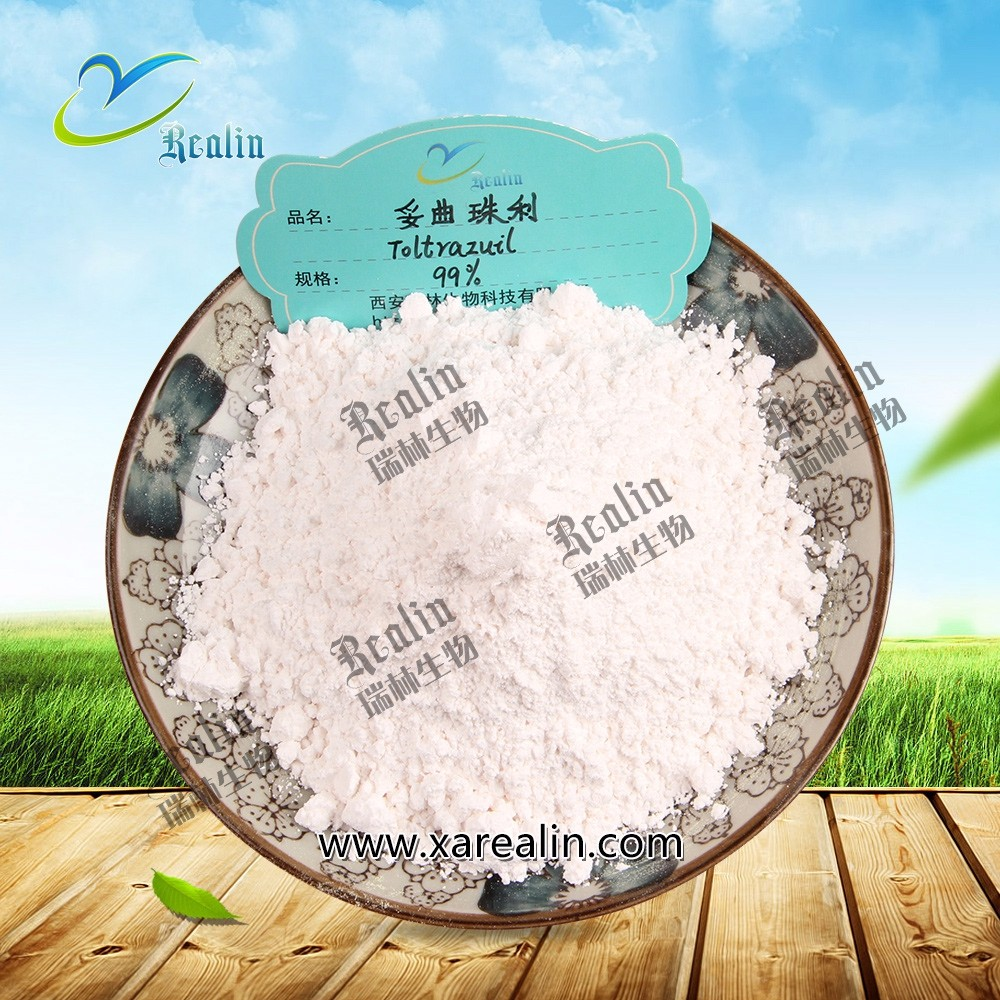 Antibacterial Sterilization Veterinary Medicine Toltrazuril Powder for Chickens and Goats