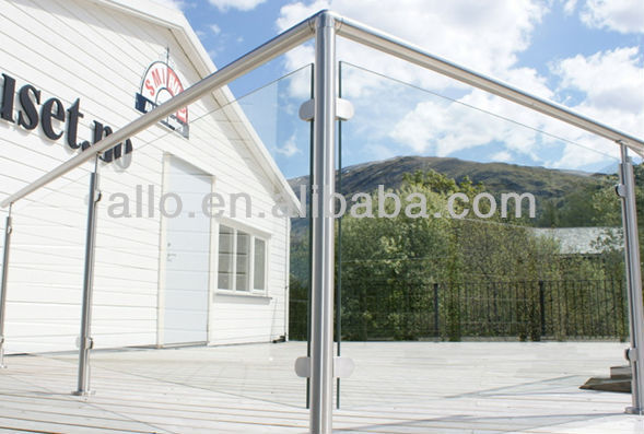 Balcony Railing Glass Pipe Support Round D Style Clamp Table Glass