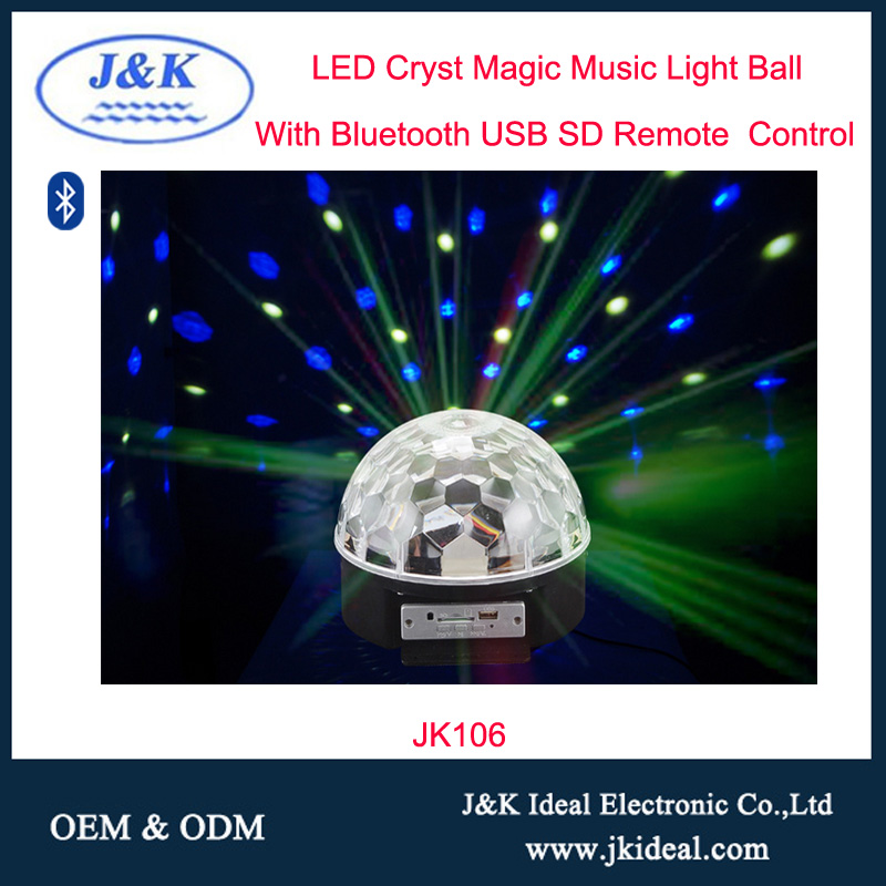 JK102 mp3 speaker music light lamp smart bluetooth led bulb for christmas