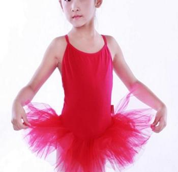 3e220e8d59 CL00115 Kids Girls Ballet Dance Red White Fuchsia TUTU Leotard Skirt  Attached