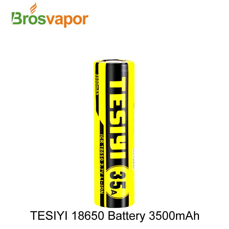 the Latest Promotion Product TESIYI icr 18650 3500mah 35A High rate Li-ion batteries in stock