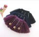 Latest fashion baby girls pleated skirt cute princess short tutu skirt with star