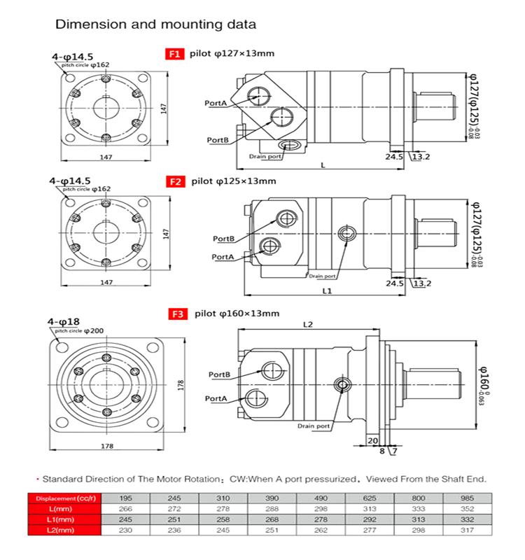 Orbit hydraulic eaton char lynn motor 6000 series for for Char lynn 6000 series motor specs