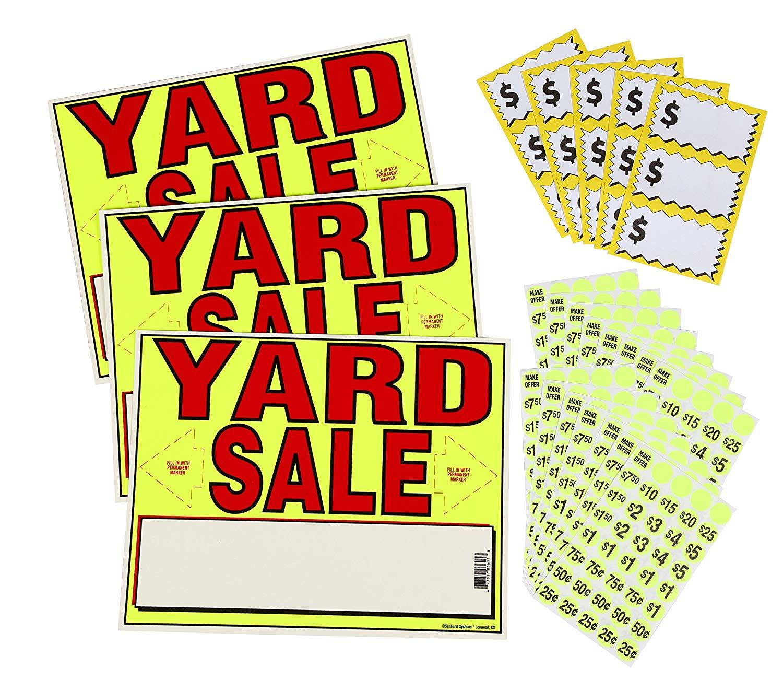 Get Quotations Sunburst Systems 4195 Yard Sale EZ Kit Neon Yellow