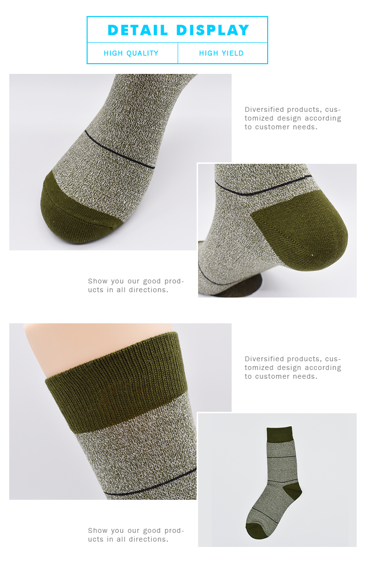Adults Age Group 75% Cotton Army Green Sweat Absorbent Men Foot  Mid Long Tube Socks