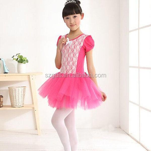 Cheap Cute Kids Pink Ballet Girls Tutu Blue Children Stage Dance Costumes 5colors