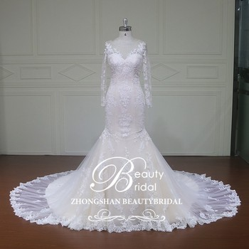 Xfm013 Lace Mermaid Wedding Dress With Crystals Lebanon Designer Dresses Patterns