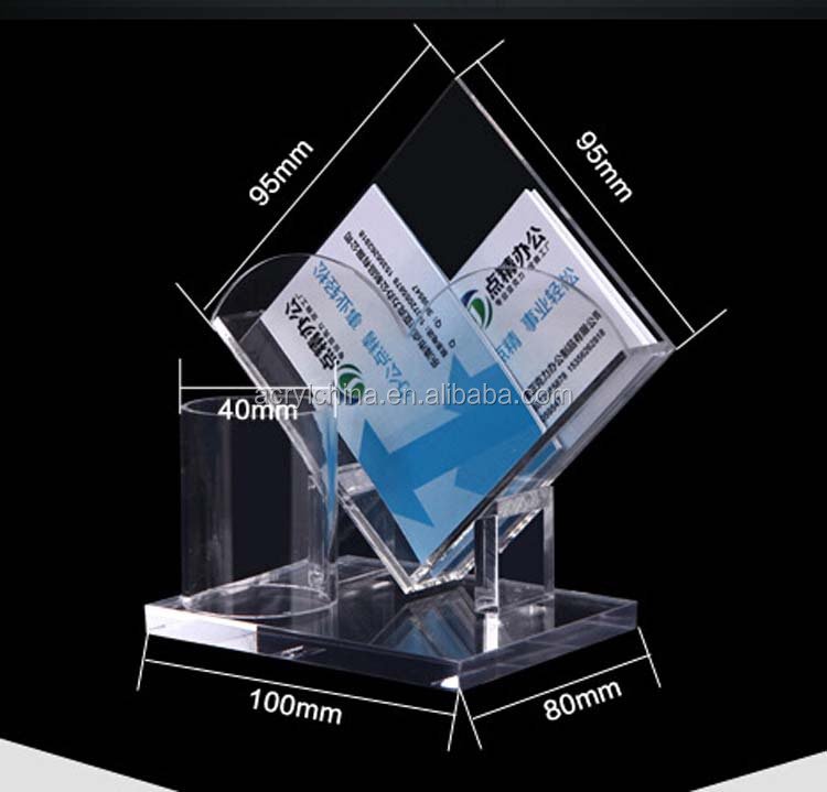Fashionable Clear Acrylic Business Card Holder With Pen Box,Hot Sell ...