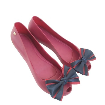 Mini Helisha female fashion shoes factory price jieyang pvc jelly dress shoes for women and lady