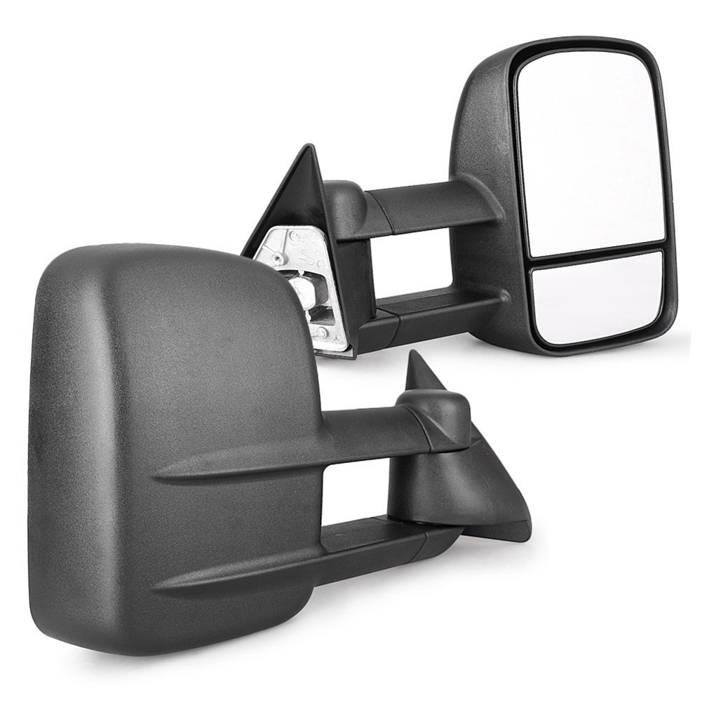 Mallofusa Manual Telescoping Towing Mirrors Rear Side Mirrors Fits Chevy GMC Pickup Truck 1988-1998