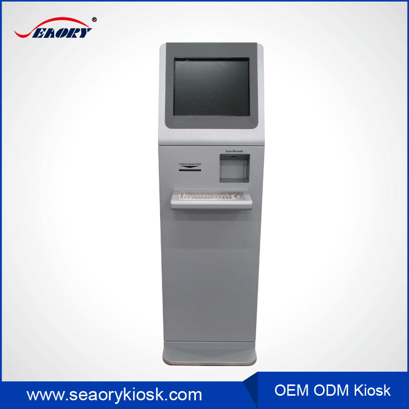 Self sevice payment 17inch touch screen slim body kiosk