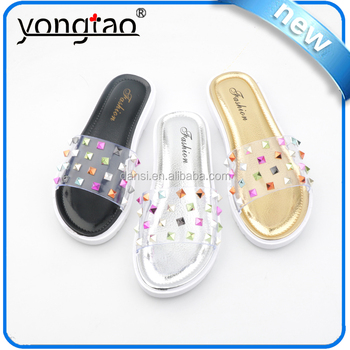 2016 New Design Drill Women Slippers Pvc Shoes Fashion Jelly Shoes ...