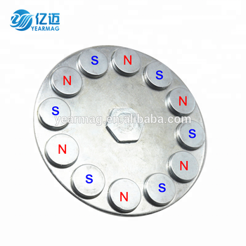 Cup Shape Neodymium Magnet Composite NdFeB Rubber Coated Pot Magnet with Diameter 22 31 36 42 66 88mm