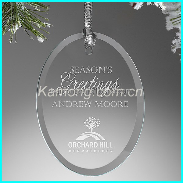 Christmas tree Ornament crystal glass clear ornaments oval shaped crystal clear hanging pendants,crystal decoration