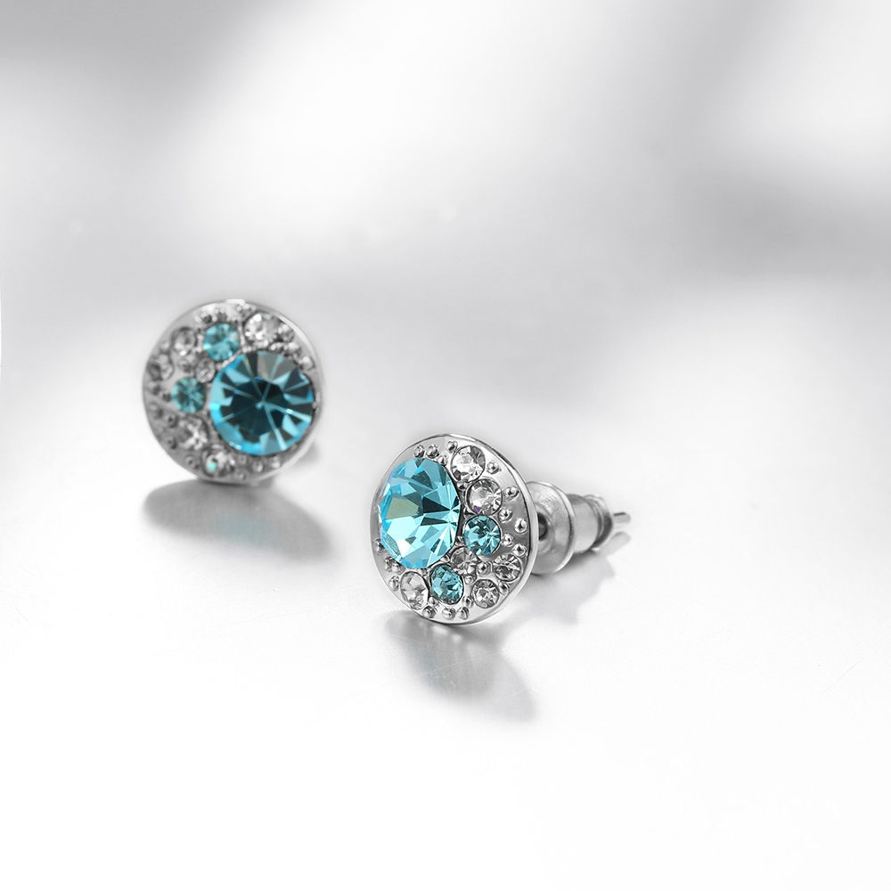 Fashion Jewelry Women Micro Pave Stud Cubic Zirconia Earrings