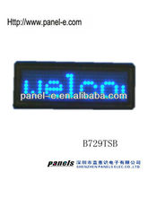 Direct manufacter)cheap factory price name card KTV/Bar use ,waiters led name badge,Programmable LED Scrolling Name Tag