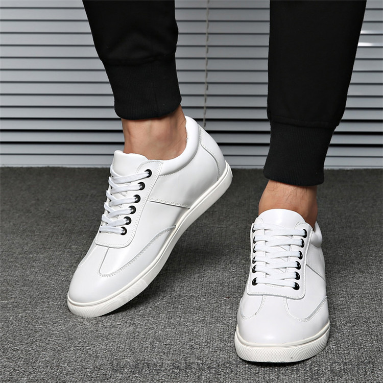 2017 Brand New Alibaba Casual 100% Genuine Leather Men Height Increasing Shoes