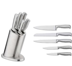 stainless steel 5 pcs kitchen knife with hollow flat handle