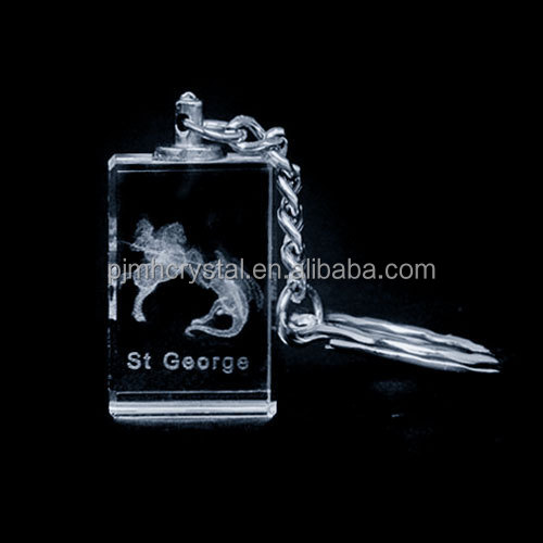 MH-K0011 Europe style crystal laser crystal keychain