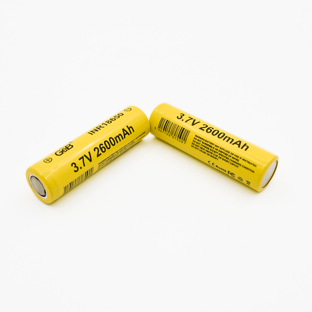 3.7V 18650 rechargeable lipo batteries 2600mAh Lithium battery pack with protection board / wire/ connector