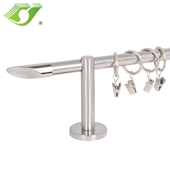wholesale polished nickel curtain rods with 16mm curtain pipes