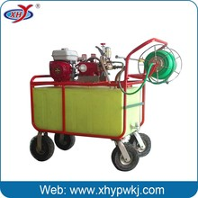 Agricultural atomizing pesticide orchard sprayer
