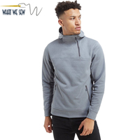 Custom Mens New Fashion Running Fit Half Zip Hoody