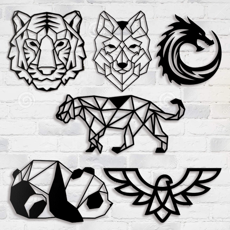 Animal metal wall art decoration board laser cutting <strong>screen</strong>