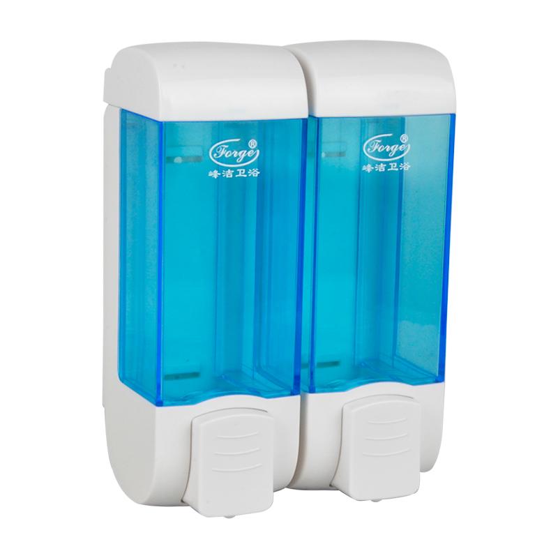350ml ABS Dual Hand Soap Dispenser Plastic Bottle F1801-B-S
