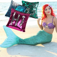 Latest Products In Market Mermaid Pillows Reversible Sequin For Christmas Decorations Gifts