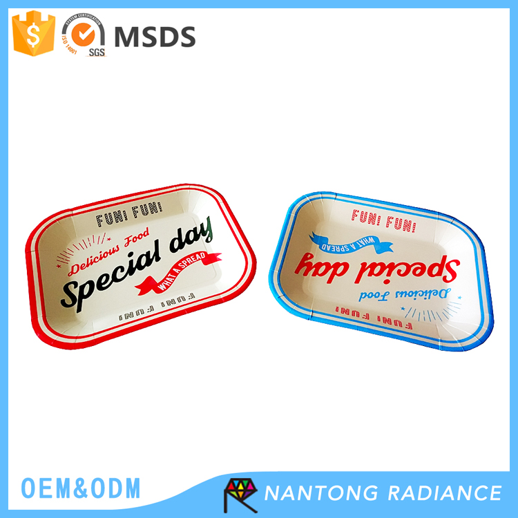 320*270mm rectangle shape Paper Plate