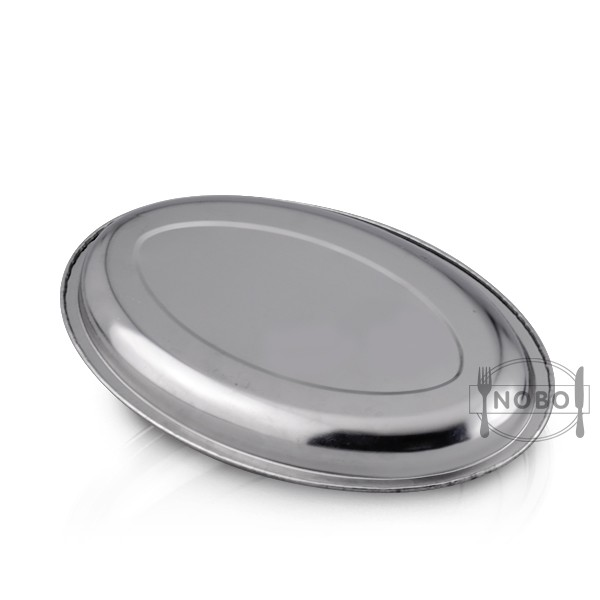 deep stainless steel egg shape tray for food