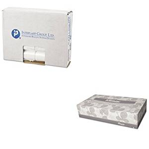 KITIBSEC242406NKIM21606CT - Value Kit - KIMBERLY CLARK KLEENEX White Facial Tissue (KIM21606CT) and Integrated Bagging Systems EC242406N Clear 6 Mic High Density Can Liners, 24quot; x 24quot; (IBSEC242406N)