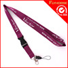Promotional Heat Transfer ID Card Badge Holder Leather Lanyard