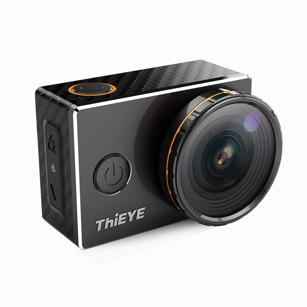 Andoer ThiEYE V5s 4K UHD 12MP WiFi Action Camera 197ft Waterproof Metal Sports Camcorder 2Inch LCD 170° Wide Angle with UV CPL Filter Full Accessories Support Slow Motion Time Lapse