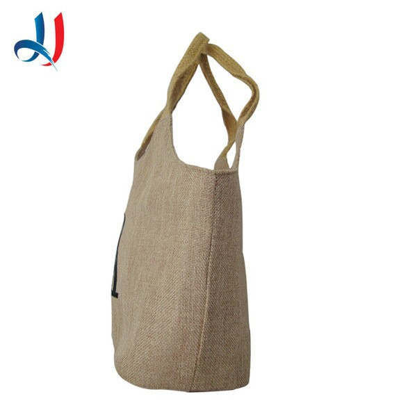 New custom high quality jute food packing bag lunch bag for market wholesale