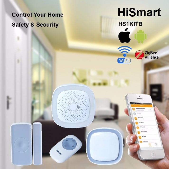Zigbee smart house security alarm kit sensor for internet of things