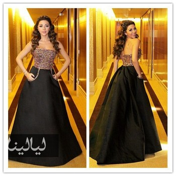 Memf03 Sexy Myriam Fares Celebrity Dress Ball Gown Prom Dresses