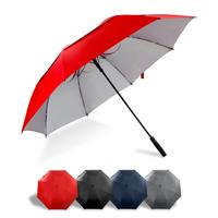 Red Big Size Golf Umbrella 68 inch UV Protection For Family