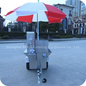 2014 New Style Mobile Stainless Steel Food Snack Warmer Buffet Kiosk Trailer with Display Shelf XR-CC120 A