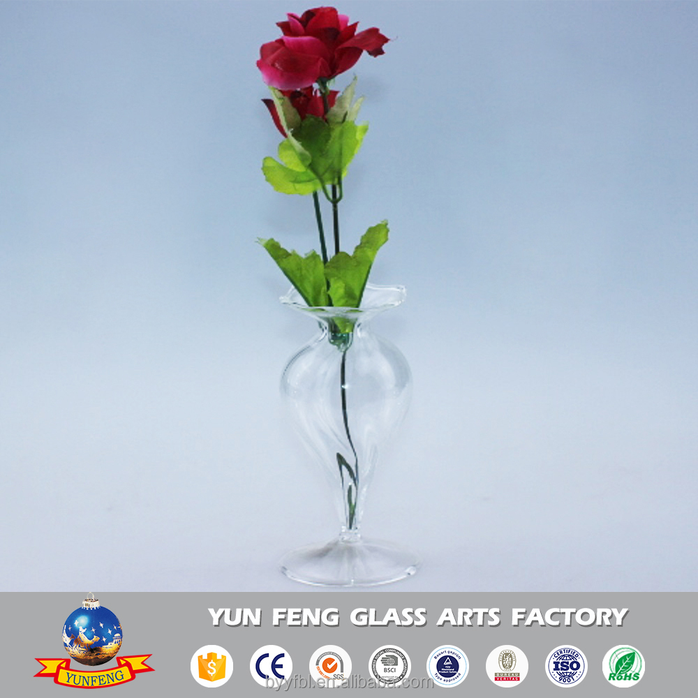 New modern clear long glass flower receptacle decoration