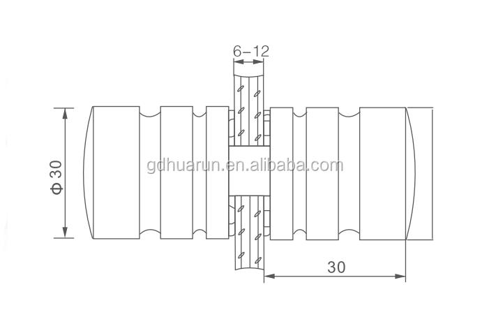 Preço de fábrica liga de alumínio interior maçaneta da porta para porta de vidro