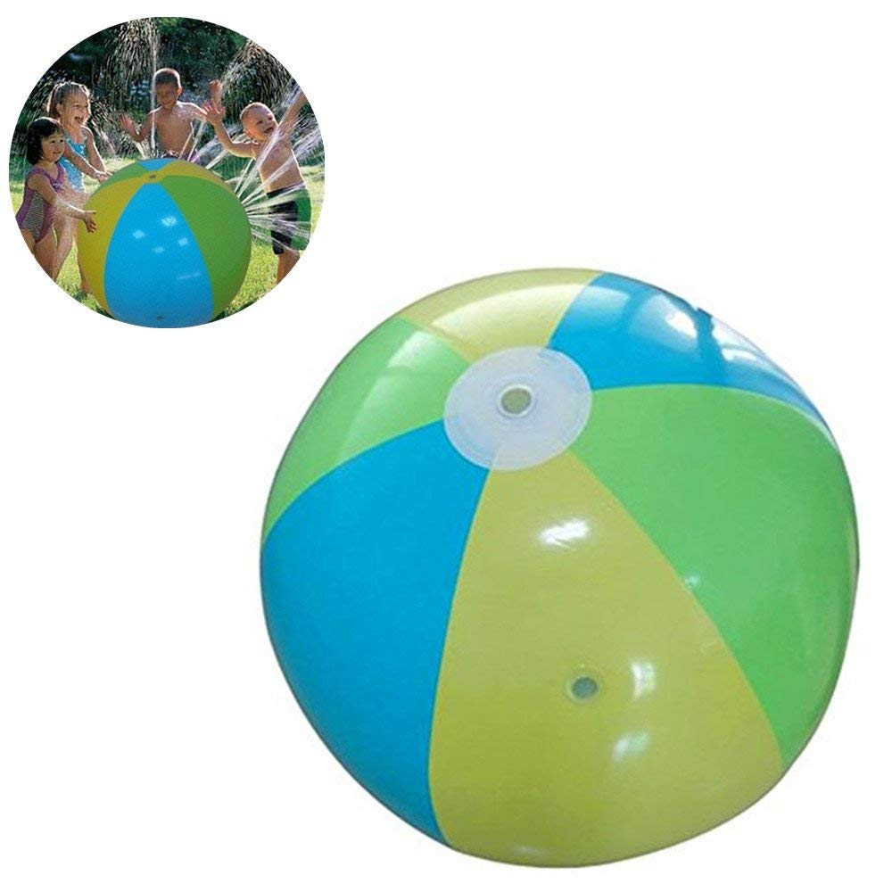 1 Pc 14 Inches Multicolor LED Beach Ball Kids Outdoor Activities Water Parks Fun Central AU064 Flashing Beach Ball for Beach and Pool Parties Light Up Beach Ball for Kids Glow Ball