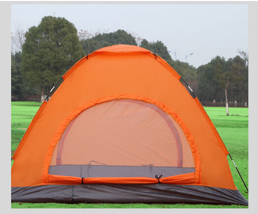 Customize OEM 4 Person 2 Layer Outdoor Portable Camping Beach Tent Green
