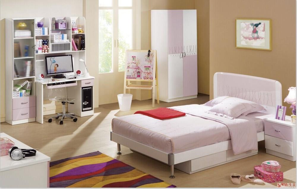 Mdf hout kids slaapkamer meubels sets leuke meisje slaapkamer