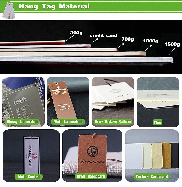 Individuell Bedruckte Recycelt Braun Kraft Papier Hängen Tag Kraft Karton Papier Hängen Tag Für Schmuck Hang-Tag Für Bekleidungs