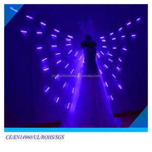 Purple fairy wings wholesale angel LED light wings with halo angel fiber optic wings light