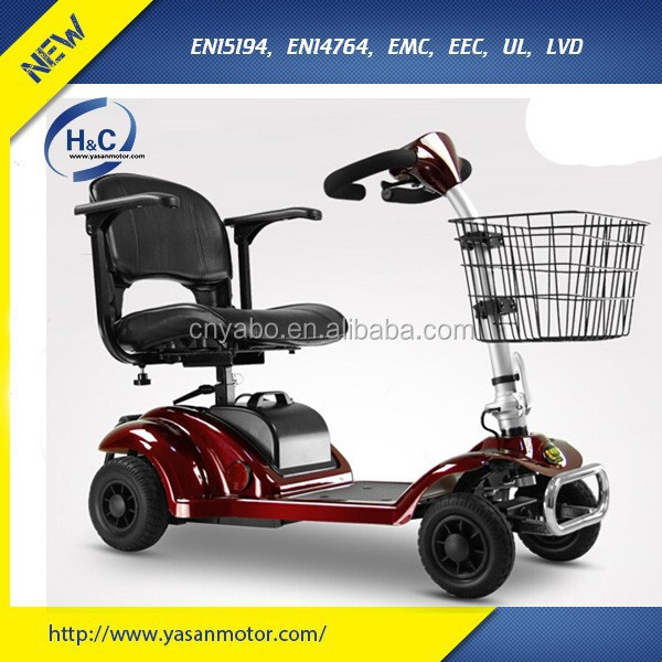 270W small 4 wheel easy folding mobility disabled scooter for older people lightweight mobility scooter